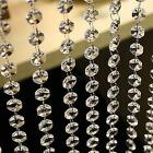 1M Diamond Clear Crystal Bead Garland Chandelier Hanging Decoration - Bulk Buy