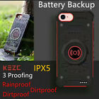Armor Power Bank Battery Backup Case Fr iPhone 7 6s Plus Charger Anti Rain Cover