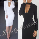 Sexy Women Slim Pencil Bodycon Club Bandage Dress Evening Party Cocktail Dress