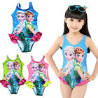 2017 Frozen Elsa Anna One-piece Swimwear Swimsuit Kids Bathing Girls Tankini New