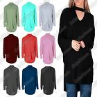 New Ladies Choker Neck Long Sleeve Lagenlook Oversized Batwing Hi Lo Baggy Top
