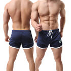 Mens Bodybuilding Running Jogging Sports GYM Training Breathable Shorts Pants