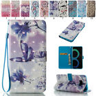 Magnetic New 3D Painted Leather Wallet Case Stand Flip Cover For Samsung Galaxy