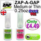 Zap a Gap 0.25oz Med & Thin Superglue Hobby Model Trains Fly Fishing Rig Glue