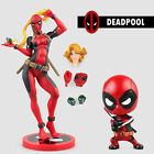 Marvel X-men Lady Deadpool Bishoujo Statue Wade Wilson bobble head Figure Toy