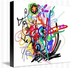 Bloom - Abstract painting image on wrapped canvas, by Galina