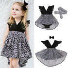 Baby Girl Clothes Party Evening Birthday Ball Prom Gown Dress Sunsuits Headband