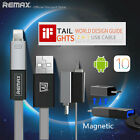 Remax 2 In 1 Magnetic Usb Charging Cable For Iphone 5 6s 7 Micro Usb For Samsung
