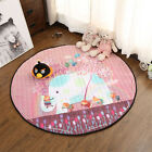 Portable Baby Kids Gym Play Mat Crawling Blanket Soft Cotton Toys Storage Bag DF