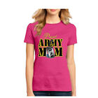 Proud Army mom 4th of July USA Flag Military US Army patriot women's t shirt