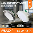 10x 12W LED DOWNLIGHT KIT IP44 90MM CUTOUT 900-1000LM CONCAVE FACE DIMMABLE/NON