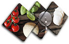 Food Pizza Italian Food Kitchen MULTI CANVAS WALL ART Picture Print