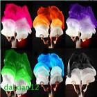 15m 18m Belly dance 100silk bamboo fan veil 1 pairleft+right+Gifts 6 colors