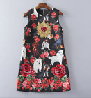 2017 occident Embroidery Beading sequins vest dress high end free shipping