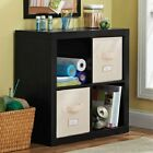 Better Homes and Gardens 4 Cube Square Organizer Storage, Multiple Colors