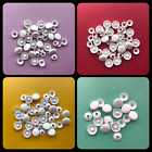 WHITE PLASTIC SELF COVER BUTTON (Sizes 11mm 15mm 19mm 22mm) DIY