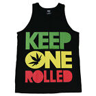 KEEP ONE ROLLED Graphic  Men's Tank Top Shirt Black