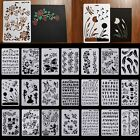 Wall Painting Grain Stencil Vintage Pattern Reusable Paint Stencil DIY Decor CA