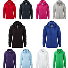 New Women's Russell Europe Fit Aurthentic Zipped Hooded Sweat Jackets Size XS-XL