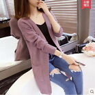 Hot Sell New Women Long Sleeve Knitted Cardigan Slim Sweater Lady Jacket Coat $13.99 USD