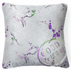 Bf133a Pink Blue Purple Blossom on Silver Rayon Brocade Cushion Cover CustomSize