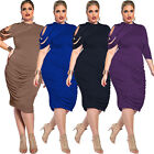 Sexy Women Spring Summer Fashion Casual Irregular Dresses Plus size L - 5XL