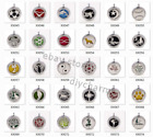 Wholesale 1pc Crystal Silver Color Aromatherapy Essential Oil Diffuser Locket