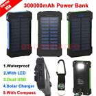 LOT 15 300000mAh Dual USB Transportable Solar Battery Charger Power Bank For Phone EK