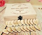 Teacher Gifts Teaching Present Leaving Personalised Wooden Hearts Cuts Tags