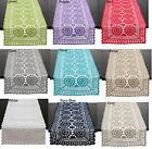 Fennco Styles Handmade Crochet Lace Cotton Rectangular Table Runner - 9 Colors