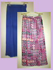 Womans Plus 4X Long Maxi Full Length Lined Skirt With Front Slits New with Tags