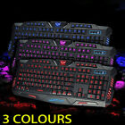 3 colors LED Illuminated Backlight USB Wired Gaming Keyboard WITH LED MOUSE VP