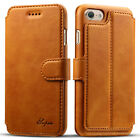 Shockproof Magnetic Leather Card Wallet Stand Slim Case Cover For iPhone 6s 7