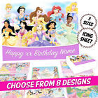 Disney Princess Cake Topper Rectangle Personalised Edible Icing Sheet