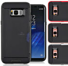 For Samsung Galaxy S8 /S8 Plus Slim Hybrid Armor Dual Layer Card Slot Cover Case