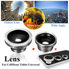3-in-1 Magnetic Fish Eye+Wide Angle+Macro Lens Photo Set Kit For Phone/Tablet PC