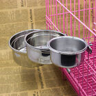 Puppy Stainless Steel Bowl Cage Coop Cup Bolt Clamp Hanger For Bird Cat Dog Bowl