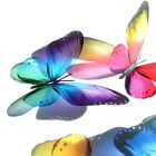 B187- Butterflies Weddings Crafts, Cake Topper Decorations Cards