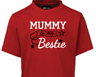 Mummy Is my BESTIE One Piece T-Shirt baby custom kids NEW Mothers Day Birthday