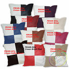 Pb- Checker Mixed Colors Soft Faux Leather Cushion Cover/Pillow Case Custom Size