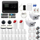 P31 G90B WiFi Cloud GSM Wireless Home Security Alarm System+IP Camera+Smoke+GAS