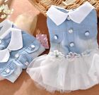 Dog Clothes S-XL Dress White Tutu Skirt Party For Small Dog Couture Female New