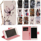 Cute Animal Pattern Leather Flip Card Wallet Stand Case Cover For Samsung Sony