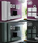 BMF VIGO 24 - FLOATING TV FURNITURE SET INC SQUARE SIDEBOARD