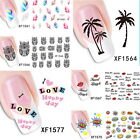 Newest Feature Nail Art Water Transfer Decal Sticker Rainbow Feather Pattern