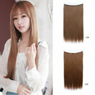 Invisible Hidden Halo Wire Hairpiece Secret Miracle Straight Hair Extensions 1PC