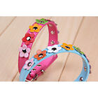 Newest Sweet Flower Studded Puppy Pet Collar Leather Buckle Neck Strap Collars