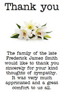 PERSONALISED PHOTO PAPER CARD FUNERAL THANK YOU CARDS NOTES SYMPATHY FLOWERS