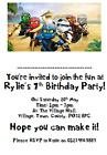 personalised paper card party invites invitations LEGO NINJAGO