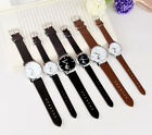 Popular Quartz Lovers Watches Women Men PU Leather Wristwatches Casual Watches
